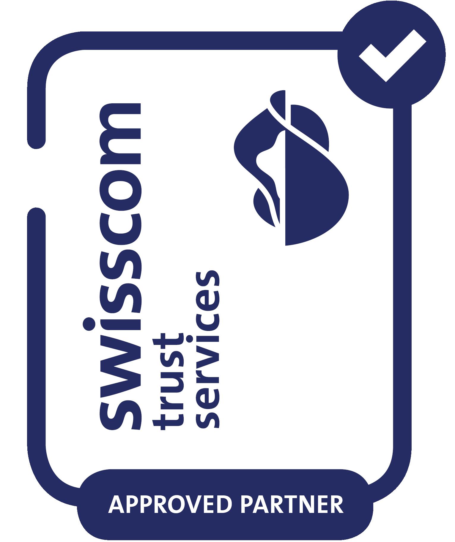 Partner of Swisscom Trust center services